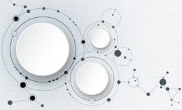 Abstracte molecules en mededeling - sociaal media technologieconcept Royalty-vrije Stock Fotografie