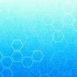 Abstracte molecules medische achtergrond Stock Afbeeldingen