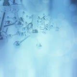 Abstracte molecules medische achtergrond Stock Fotografie