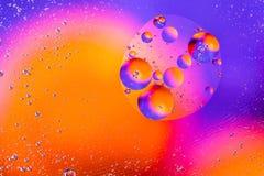 Abstracte moleculesctructure Macro van lucht of molecule wordt geschoten die abstracte achtergrond Ruimte of planeten abstracte a Royalty-vrije Stock Foto