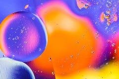 Abstracte moleculesctructure Macro van lucht of molecule wordt geschoten die abstracte achtergrond Ruimte of planeten abstracte a Stock Fotografie