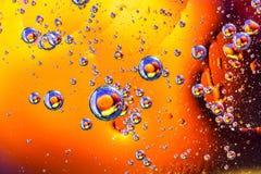 Abstracte moleculesctructure Macro van lucht of molecule wordt geschoten die abstracte achtergrond Ruimte of planeten abstracte a Stock Afbeeldingen