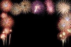 Abstracte mooie kleurrijke vuurwerkvertoning voor viering Stock Fotografie