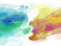 Abstracte mooie Kleurrijke waterverf het schilderen achtergrond, Kleurrijke borstelachtergrond Royalty-vrije Stock Afbeeldingen