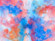 Abstracte mooie Kleurrijke waterverf het schilderen achtergrond, Kleurrijke borstelachtergrond Royalty-vrije Stock Fotografie
