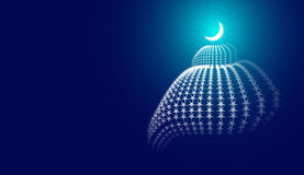 Abstracte Moskee stock illustratie