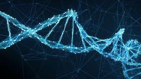 Abstracte Motieachtergrond - Digitale de molecule4k Lijn van Vlechtdna stock footage