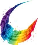Abstracte motieachtergrond, geometrische kleurrijke golf Royalty-vrije Stock Foto's