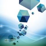 Abstracte motieachtergrond - kubussen Stock Afbeeldingen