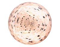 Abstracte Mozaïek glanzende bal op witte achtergrond Stock Foto's