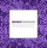 Abstracte mozaïekachtergrond met kleurrijke pixel Het Ontwerpmalplaatje van de partijuitnodiging Vector stock illustratie