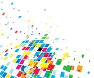 Abstracte mozaïeksamenstelling stock illustratie