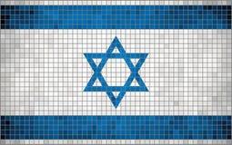 Abstracte Mozaïekvlag van Israël Stock Afbeelding