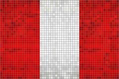 Abstracte Mozaïekvlag van Peru vector illustratie