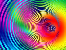 Abstracte multicolored achtergrond met spiraalvormige tunnel Illustratio stock illustratie