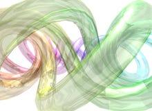Abstracte multicolored achtergrond met spiraalvormige vorm Stock Foto