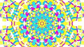 Abstracte multicolored caleidoscoopanimatie 3d geef terug vector illustratie
