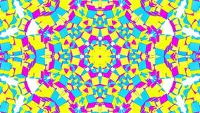 Abstracte multicolored caleidoscoopanimatie 3d geef terug royalty-vrije illustratie