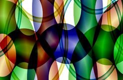 Abstracte multicolored in de schaduw gestelde golvende achtergrond, behang, illustratie stock illustratie