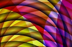Abstracte multicolored in de schaduw gestelde golvende achtergrond, behang, illustratie royalty-vrije illustratie