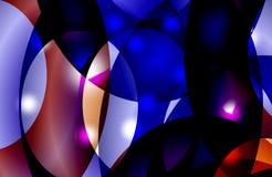 Abstracte multicolored in de schaduw gestelde golvende achtergrond met bellen, behang, illustratie stock illustratie