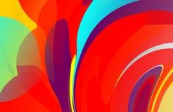 Abstracte multicolored in de schaduw gestelde golvende achtergrond met bellen, behang, illustratie royalty-vrije illustratie