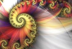 Abstracte multicolored spiralen Stock Afbeeldingen