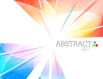 Abstracte multicolored vormscène Stock Afbeelding