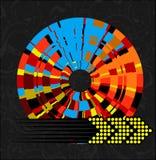 Abstracte Multicolored Wiel en Pijl Royalty-vrije Stock Afbeelding