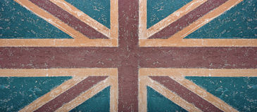 Abstracte muur als achtergrond met vlag Royalty-vrije Stock Afbeeldingen