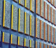 Abstracte muur met kleuren Stock Afbeeldingen