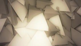 Abstracte Muur van de Piramidesvj Lijn van Platonics LoopAbstract stock videobeelden