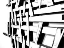 Abstracte muurspiegel met verschillende focus_3 Stock Foto's