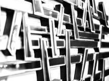 Abstracte muurspiegel met verschillende focus_5 Royalty-vrije Stock Foto's