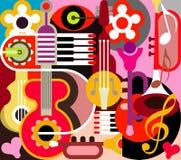 Abstracte Muziek Stock Afbeelding
