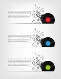 Abstracte muziek vectorillustratie als achtergrond voor Stock Foto's