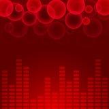 Abstracte muziekachtergrond Vector Illustratie