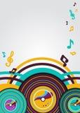 Abstracte muziekachtergrond Royalty-vrije Stock Foto's