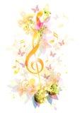 Abstracte muziekachtergrond Royalty-vrije Stock Fotografie