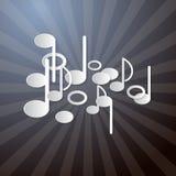 Abstracte Muziekachtergrond Stock Afbeeldingen