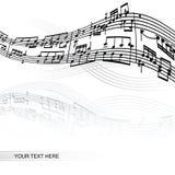 Abstracte muziekachtergrond Stock Foto's