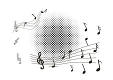 Abstracte muziekachtergrond Royalty-vrije Illustratie