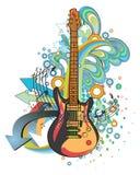 Abstracte muziekachtergrond stock illustratie