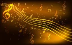 Abstracte muziekachtergrond Stock Afbeelding