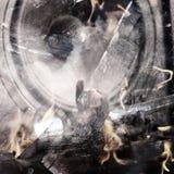 Abstracte muziekachtergrond Dubbele blootstelling Royalty-vrije Stock Afbeeldingen