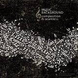Abstracte muziekachtergrond met naadloze samenstelling Stock Afbeeldingen