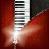 Abstracte muziekachtergrond met piano stock illustratie