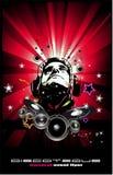 Abstracte muziekachtergrond voor discotequevliegers royalty-vrije illustratie