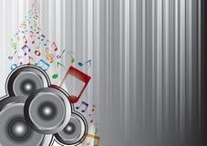Abstracte muzieknota's royalty-vrije illustratie