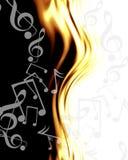 Abstracte muzieknoten royalty-vrije illustratie